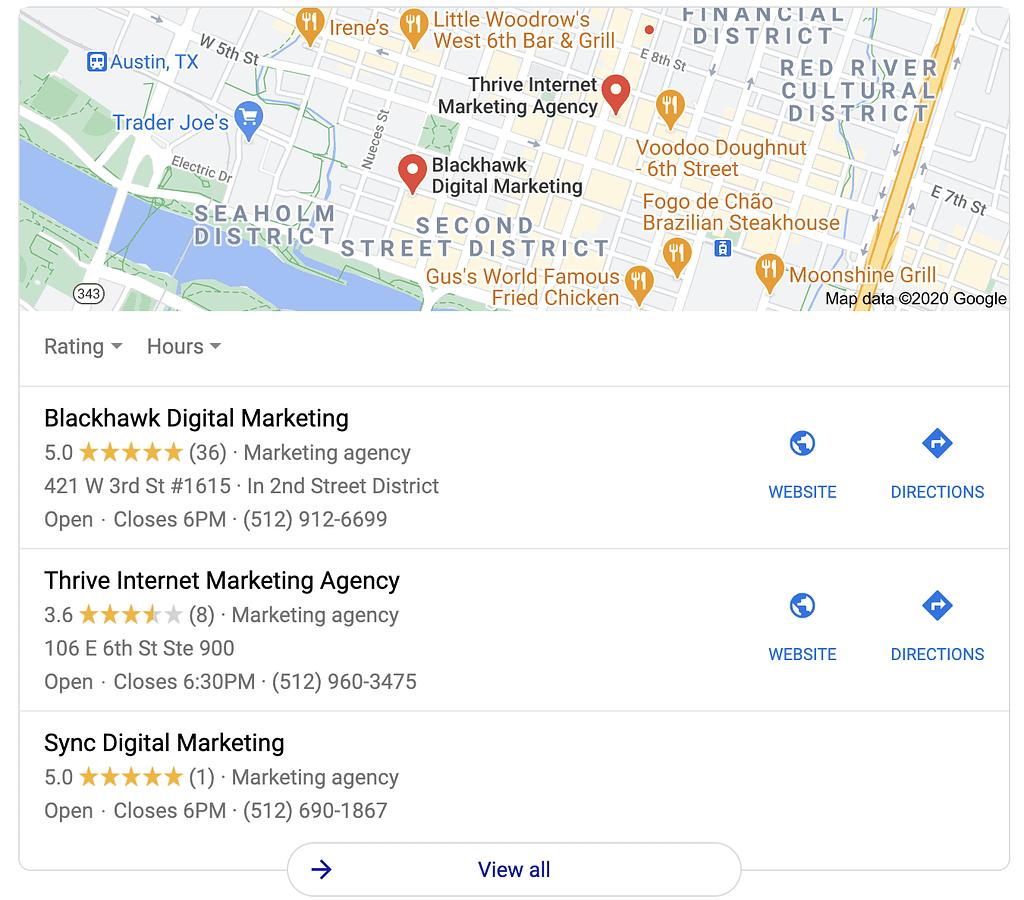local ad map