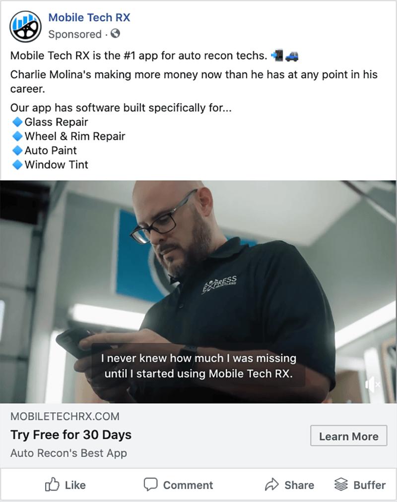 Blackhawk   mtrx fb screenshot 6   Austin Digital Marketing Agency