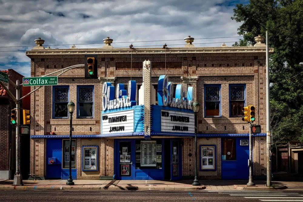 Bluebird theatre on Colfax Ave in Denver