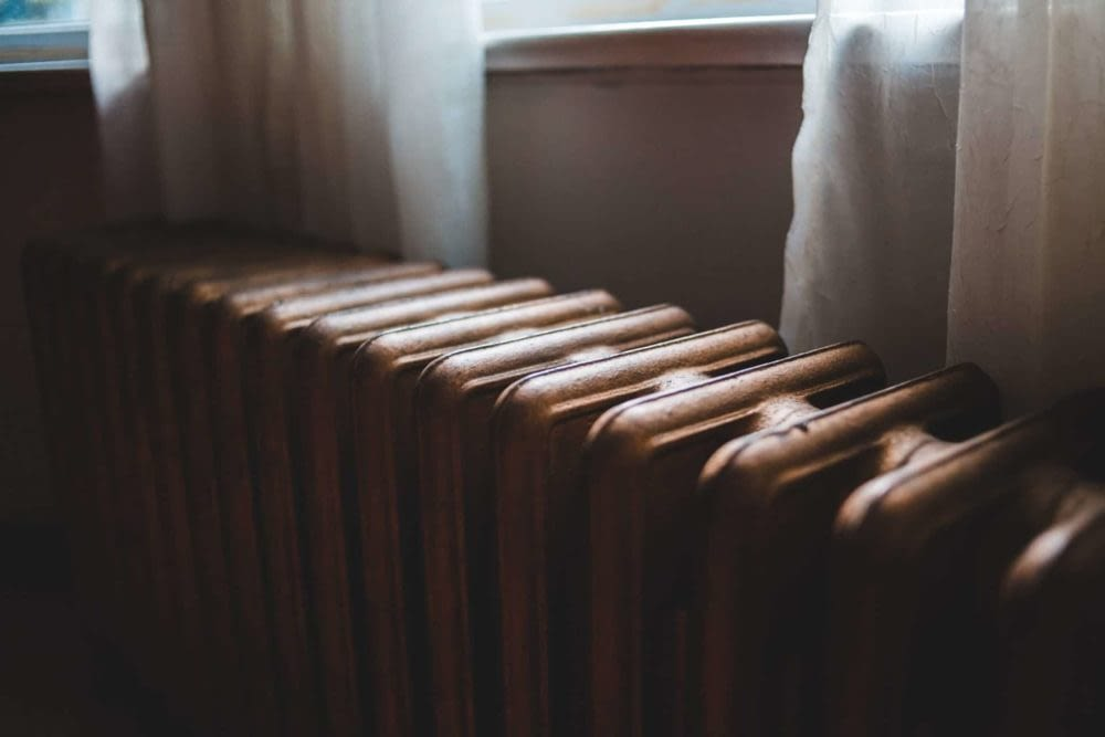 close up of the top of a radiator