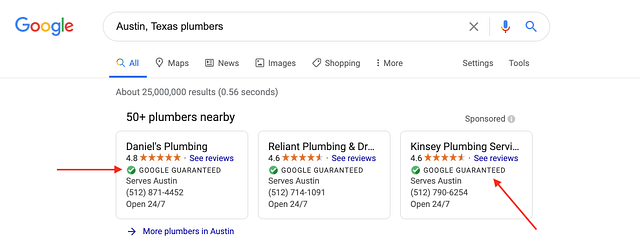 Google Guarantee in Search Results