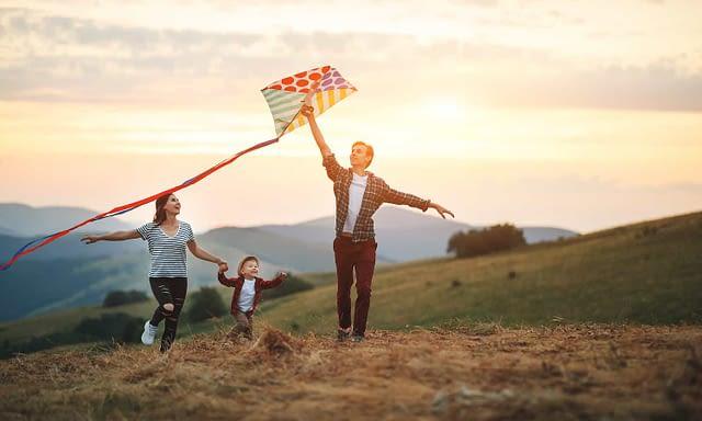 flying a kite - coronavirus optimism post