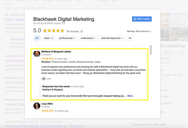 Blackhawk | reviews | Austin Digital Marketing Agency