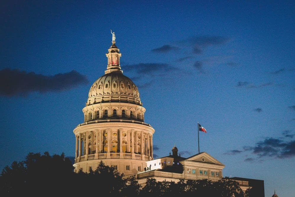 Austin's Capitol building against a dusk sky