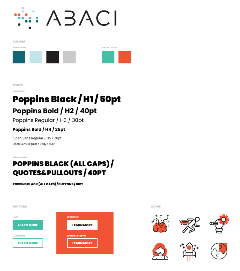 Blackhawk | Abaci Style Guide | Austin Digital Marketing Agency